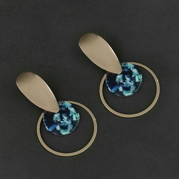 Urthn Blue Acrylic Dangler Earrings - 1314010C