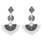 Urthn White Austrian Stone Dangler Earrings