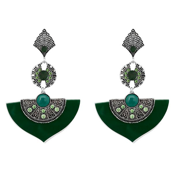 Urthn Green Austrian Stone Dangler Earrings