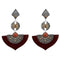 Urthn Brown Austrian Stone Dangler Earrings
