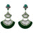 Urthn Stone Green Acrylic Dangler Earrings