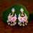 Kriaa Gold Plated Pink Meenakari Kundan Dangler Earrings