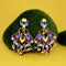 Native Haat Brown Meenakari Kundan Dangler Earrings - N1314204B