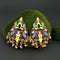 Native Haat Brown Meenakari And Beads Kundan Dangler Earrings - N1314215B