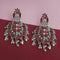 Native Haat Silver Plated Maroon Meenakari Afghani Earrings - N1314260C