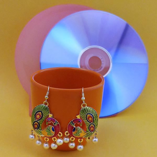 Urthn Fashions Green Meenakari  Earrings