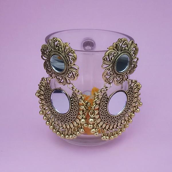 Kriaa Gold Plated Mirror Jhumki Earrings