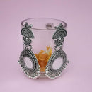 Kriaa Oxidised Plated Mirror Jhumki Earrings