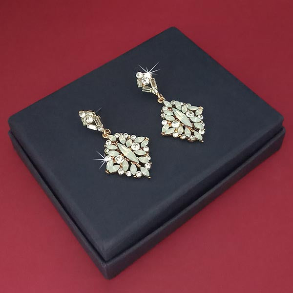 Kriaa Gold Plated Crystal Stone Dangler Earrings
