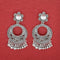 Jeweljunk Austrian Stone Silver Plated Dangler Earrings