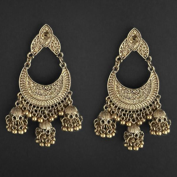 Jeweljunk Gold Plated Afghani Dangler Earrings  - 1314855B