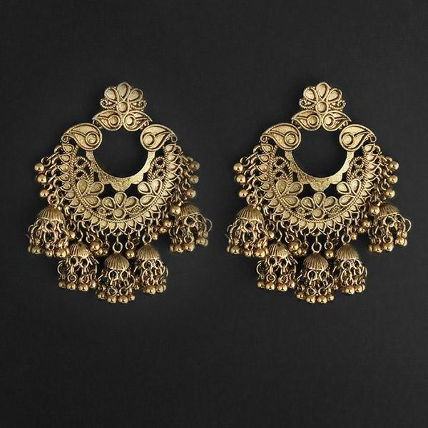 Jeweljunk Gold Plated Afghani Dangler Earrings  - 1314857B
