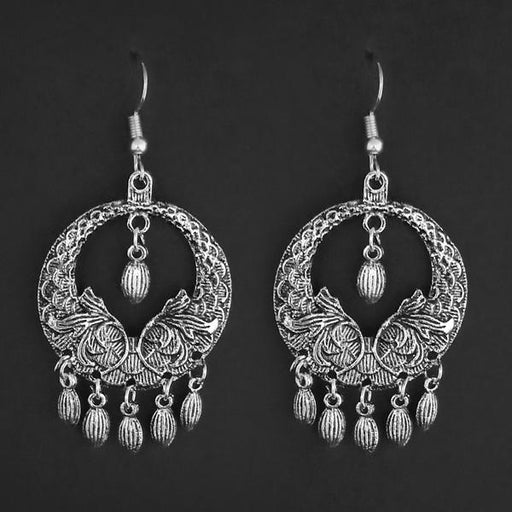 Jeweljunk Silver Plated Dangler Earrings - 1314865A