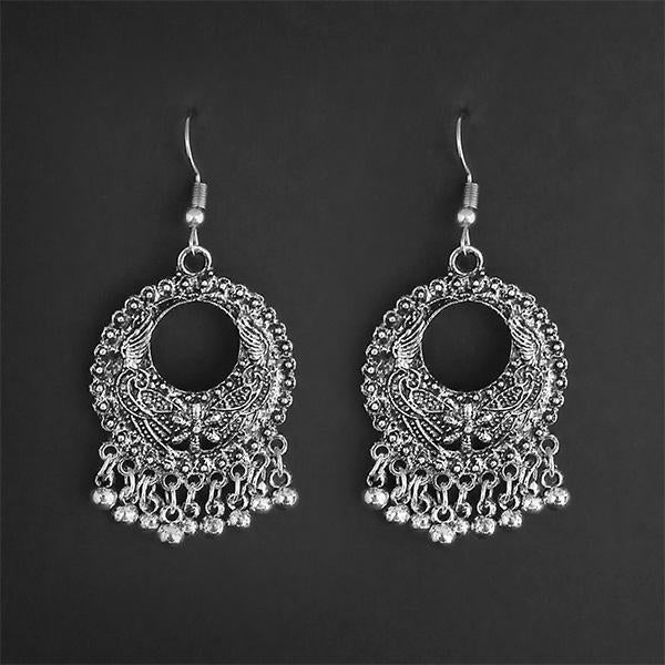 Jeweljunk Silver Plated Dangler Earrings