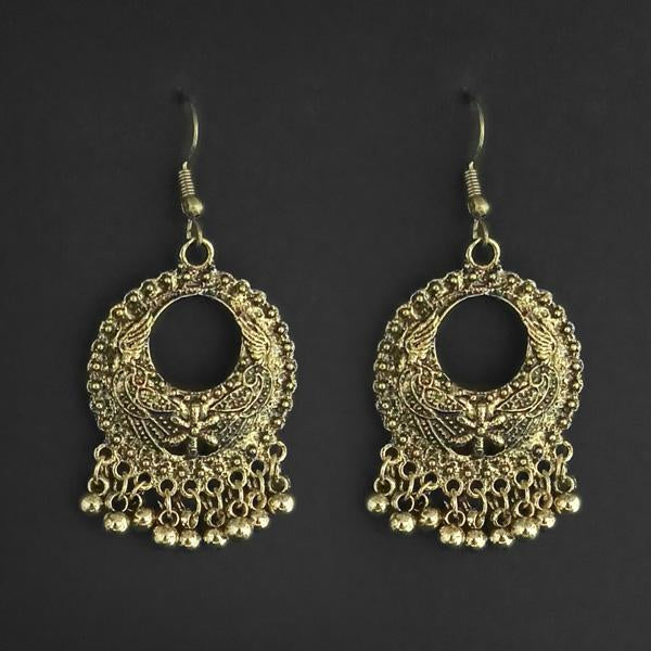 Jeweljunk Gold Plated Dangler Earrings