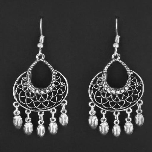 Jeweljunk Silver Plated Dangler Earrings - 1314868A