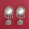 Jeweljunk Silver Plated Mirror Dangler Earrings  - 1314937