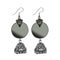 Jeweljunk Oxidised Plated Mirror Jhumki Earrings - 1314947
