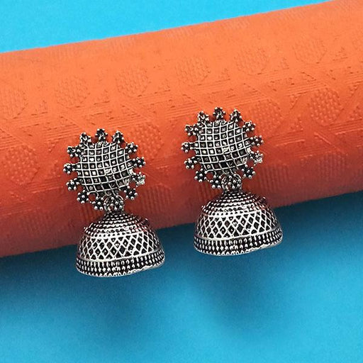 Jeweljunk Oxidised Plated Jhumki Earrings - 1315003