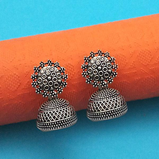 Jeweljunk Oxidised Plated Jhumki Earrings - 1315006