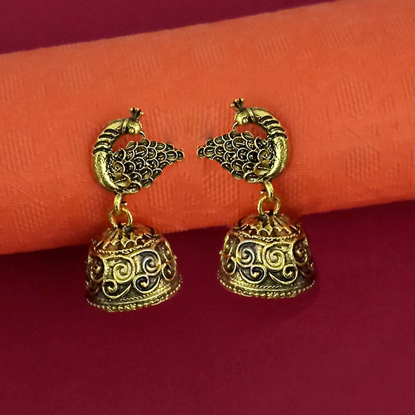 Jeweljunk Gold Plated Jhumki Earrings - 1315021A