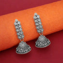 Jeweljunk Oxidised Plated Leaf Design Jhumki Earrings