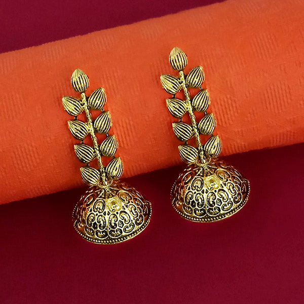 Jeweljunk Gold Plated Jhumki Earrings - 1315058A