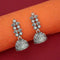 Jeweljunk Leaf Design Oxidised Jhumki Earrings  - 1315060