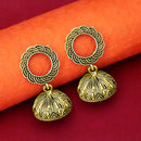 Jeweljunk Antique Gold Plated Jhumki Earrings