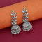 Jeweljunk Oxidised Plated Jhumki Earrings - 1315079