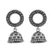 Jeweljunk Oxidised Plated Jhumki Earrings - 1315081