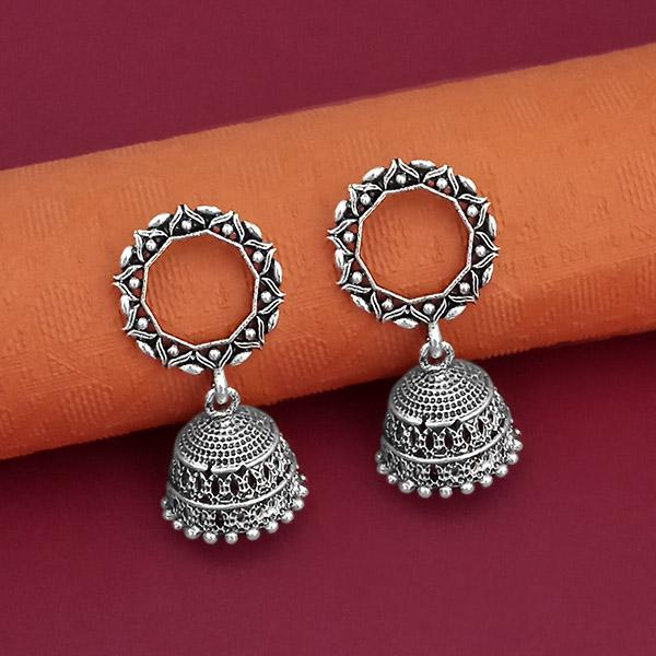 Jeweljunk Oxidised Plated Jhumki Earrings - 1315082