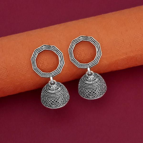 Jeweljunk Oxidised Plated Jhumki Earrings - 1315083