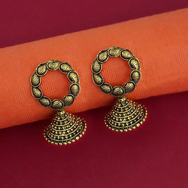 Jeweljunk Gold Plated Jhumki Earrings - 1315084A