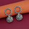 Jeweljunk Oxidised Plated Jhumki Earrings - 1315085