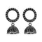 Jeweljunk Oxidised Plated Jhumki Earrings - 1315086