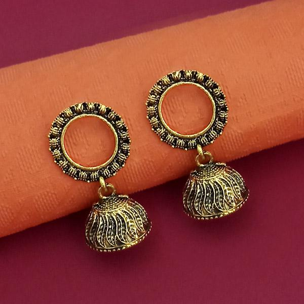 Jeweljunk Antique Gold Plated Jhumki Earrings - 1315086A