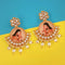 kriaa Padmavati Inspired Gold Plated Dangler Earrings