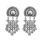 Jeweljunk Oxidised Plated Dangler Earrings