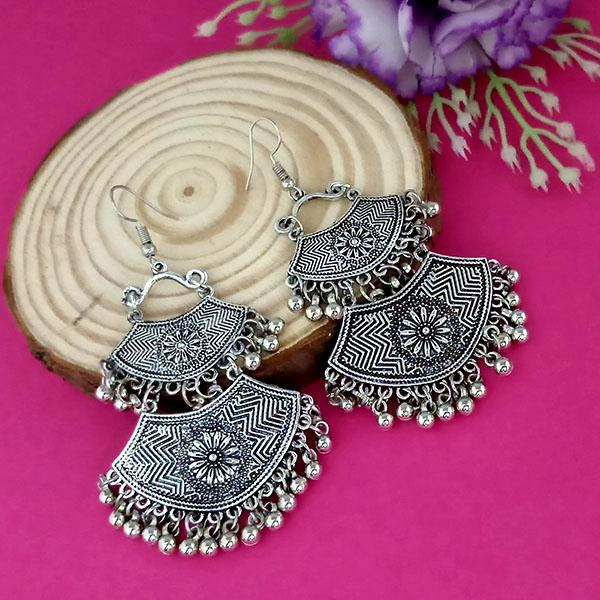 Suhagan Oxidised Plated Dangler Earrings - 1315258