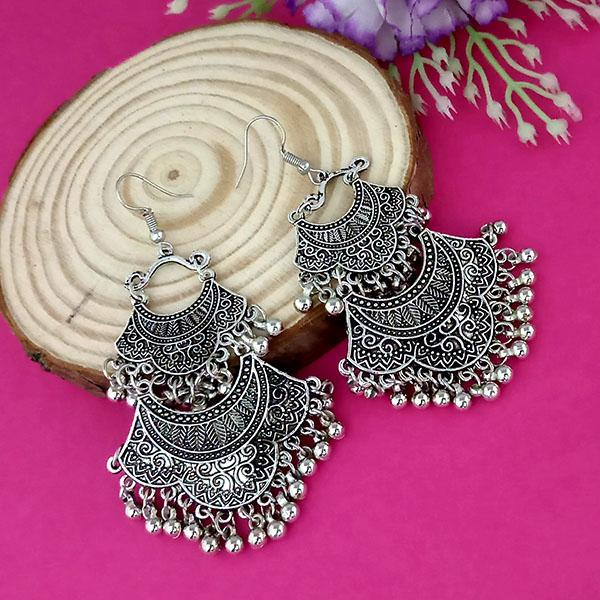 Suhagan Oxidised Plated Dangler Earrings - 1315259