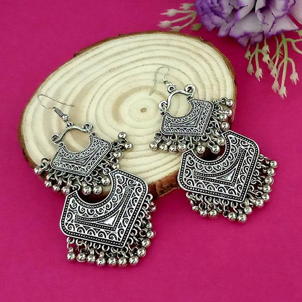 Suhagan Oxidised Plated Dangler Earrings - 1315260