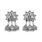 Jeweljunk White Austrian Stone Oxidised Plated Jhumki Earrings