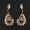 Kriaa Brown Crystal Stone Dangler earrings - 1315601