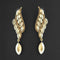 Kriaa Brown Crystal Stone Dangler earrings - 1315607