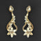 Kriaa Brown Crystal Stone Dangler earrings - 1315608