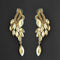Kriaa Brown Crystal Stone Dangler earrings - 1315609
