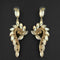 Kriaa Brown Crystal Stone Dangler earrings - 1315611