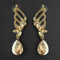 Kriaa Brown Crystal Stone Dangler earrings - 1315619