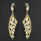 Kriaa Brown Crystal Stone Dangler earrings - 1315621
